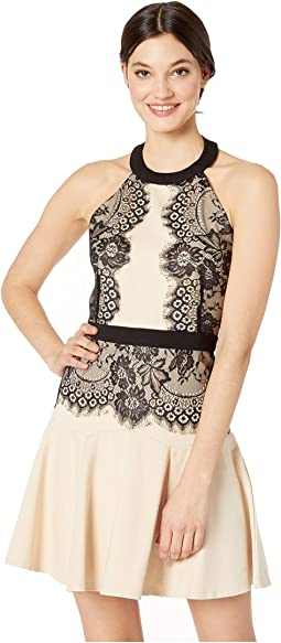 Halter Lace Pencil Dress