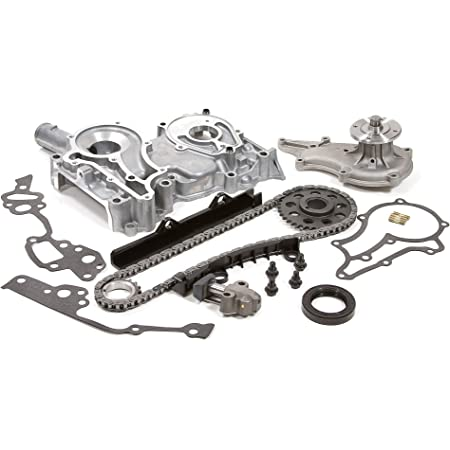 Evergreen TCK2001OP Compatible With 75-82 Toyota 2.2 SOHC 8V 20R 2.4 SOHC 8V 22R Timing Chain Kit w//Timing Cover Oil Pump
