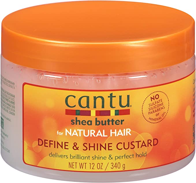 Cantu Define & Shine Custard - Manteca de karité para rizos, 340g, 1 unidad
