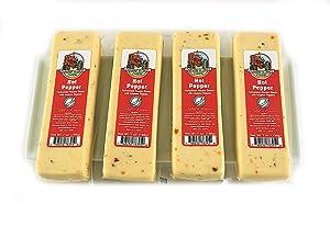 Farmers Market Hot Pepper Cheese Block 7oz (4 Blocks)