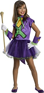 DC Super Villain Collection Joker Girl's Costume with Tutu Dress, Medium