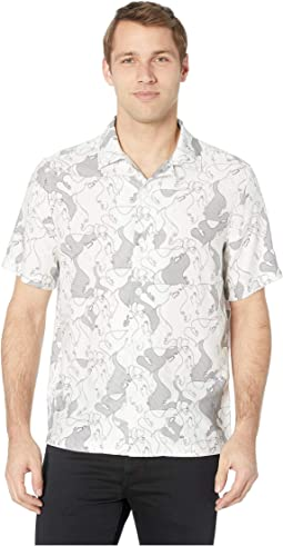 Camp Collar Printed Shirt