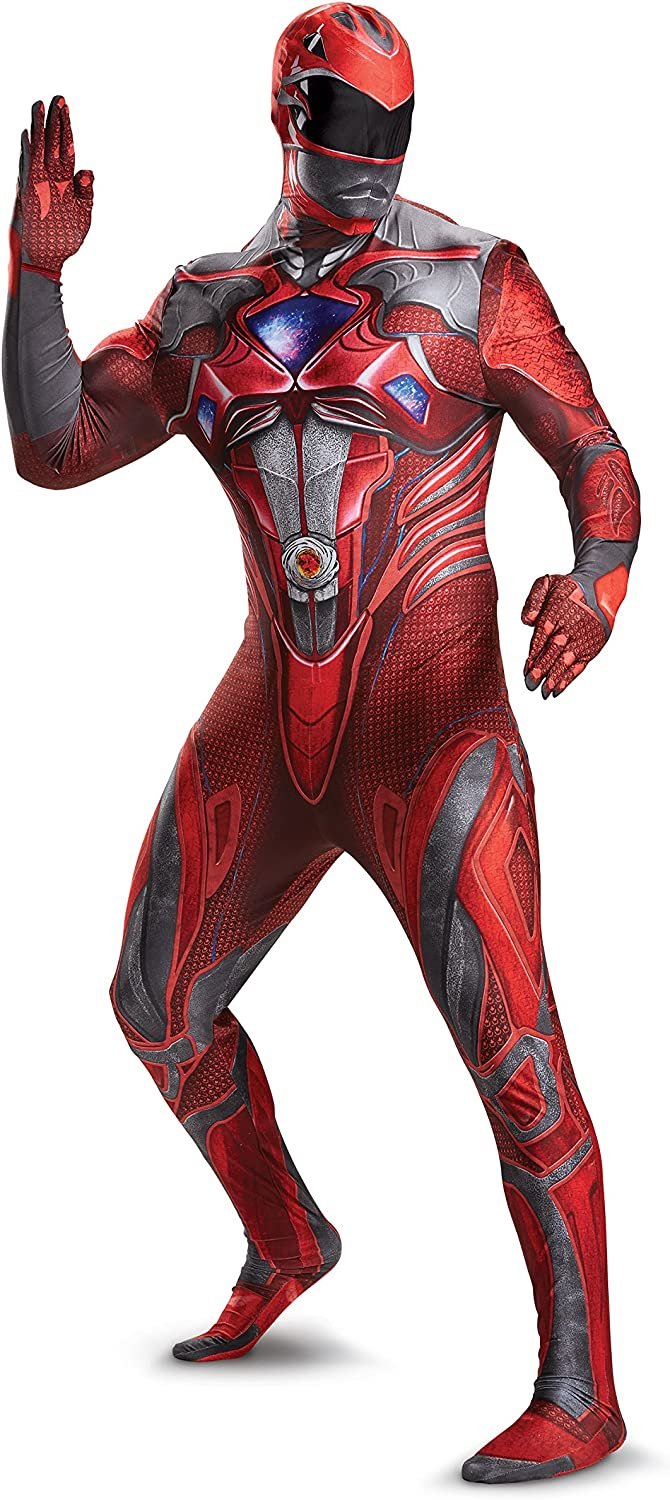 Disguise Men's Sale Fixed price for sale Red Ranger Movie Bodysuit Costume