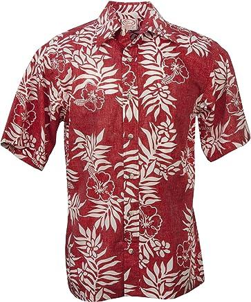 181c58c21 Go Barefoot Mini Tahitian - Men's Hawaiian Reversed Print Aloha Shirt - in  Red-White