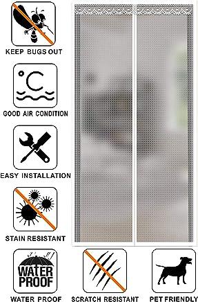 YYNMANE Magn/ético t/érmico aislado cortina de puerta 31x79inch Cortina de puerta m/ás auto t/érmico y aislante Evitar la p/érdida de aire acondicionado Para la sala de aire acondicionado-marr/ón 80x200cm