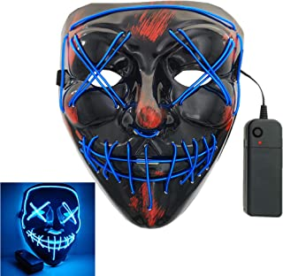 Halloween LED Light Mask for Festival Cosplay Costume Masquerade Party Carnival