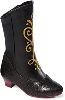 Frozen Princess Anna Black and Gold Costume Boots