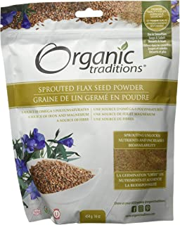 ORGANIC TRADITIONS Sprouted Flax, 454 Gram