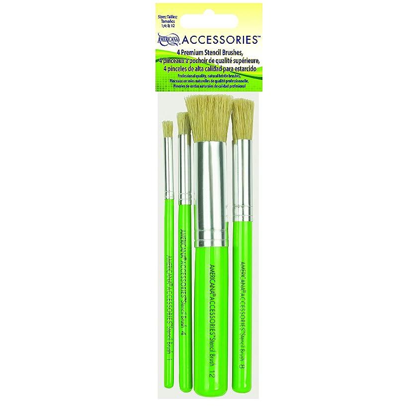 DecoArt Americana Premium Stencil Brush Set