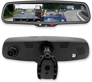 Master Tailgaters MR-43-E2DVR1 4.3 LCD Rear View Mirror with 1080P 30fps HD DVR Dual Way Video Recorder with WiFi + Backup Camera Enabled