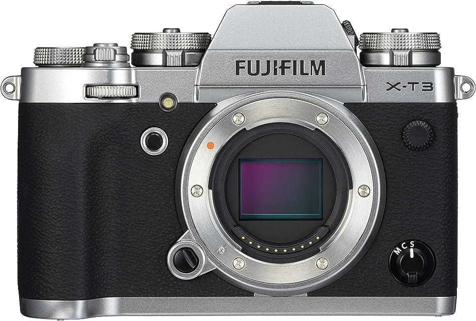 Fujifilm X-T3 - Cámara de objetivo intercambiable sin espejo con sensor APS-C de 261 Mpx video 4K/60p DCI pantalla táctil WIFI Bluetooth Plata