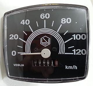 KM Vespa 50 Special Snelheidsmeter, snelheidsmeter, 120 km uur.