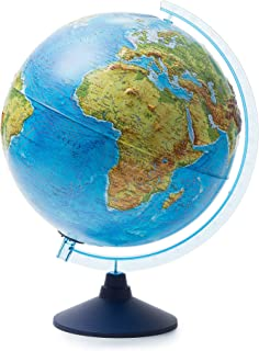 """Lighting World Globe for Kids Relief Cable-Free Globe Physical/Political with LED 8.3"""" Earth Globe Interactive Globe"""