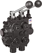 Prince RD522CCAA5A4B1 Directional Control Valve, Two Spool, 4 Ways, 3 Positions, Tandem Center, Cast Iron, 3000 psi, Lever Handle, 25 gpm, In/Out: 3/4