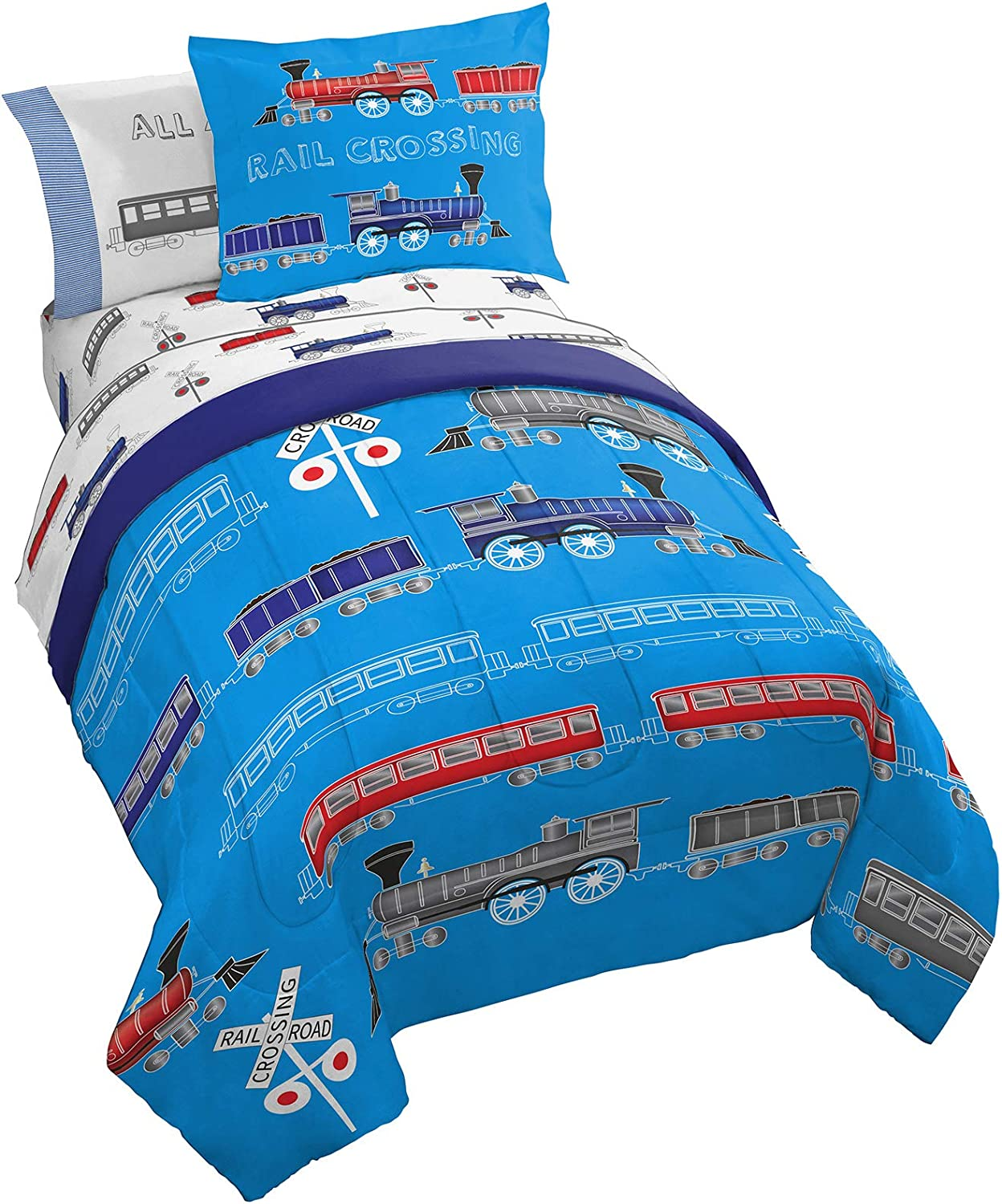 Jay Franco Trend Collector All Aboard 5 2021 Inc - Twin Bed Piece Set Inexpensive