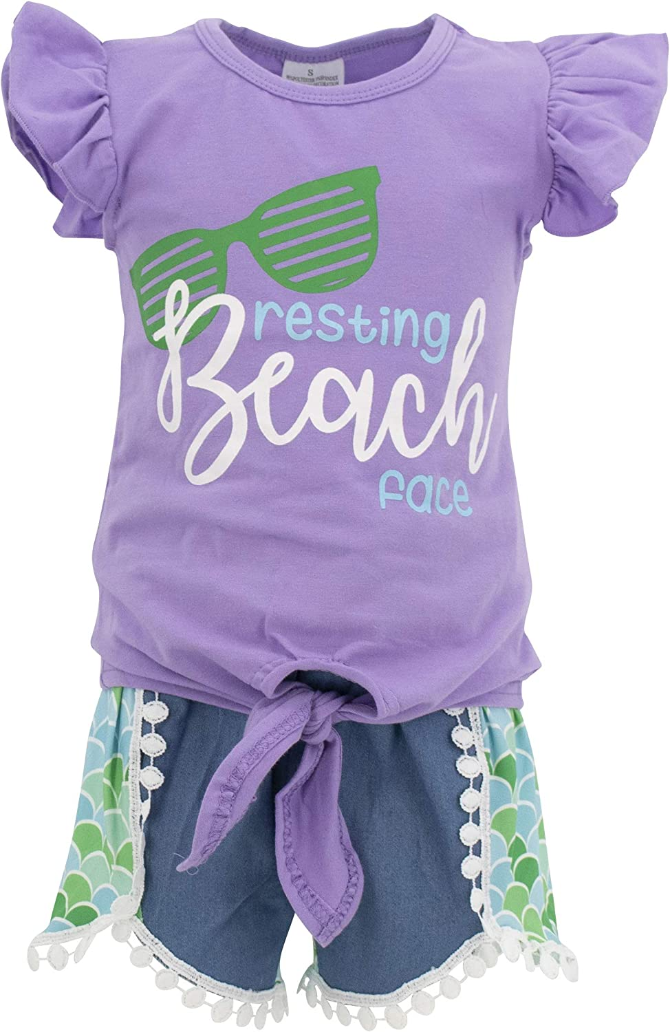 Max 48% OFF At the price of surprise Unique Baby Girls Resting Beach Face Mermaid Ou Set Short Summer
