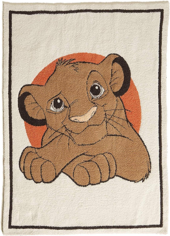 Barefoot Dreams CozyChic The Lion Cream M Stroller Blanket Popular Under blast sales product King