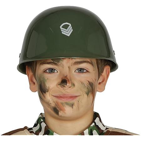 bambino casco militare