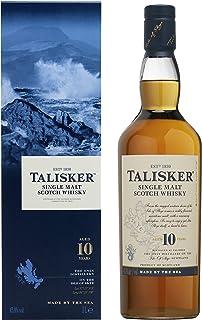 Talisker Talisker 10 Jahre Single Malt Scotch Whisky – In traditioneller Geschenkbox – 1 x 1L Single Malt Whisky 1 x 1 l