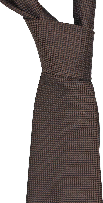 Ermenegildo Zegna Solid Brown Silk Tie