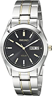 Men's SNE047 Two-Tone Solar Black Dial Watch