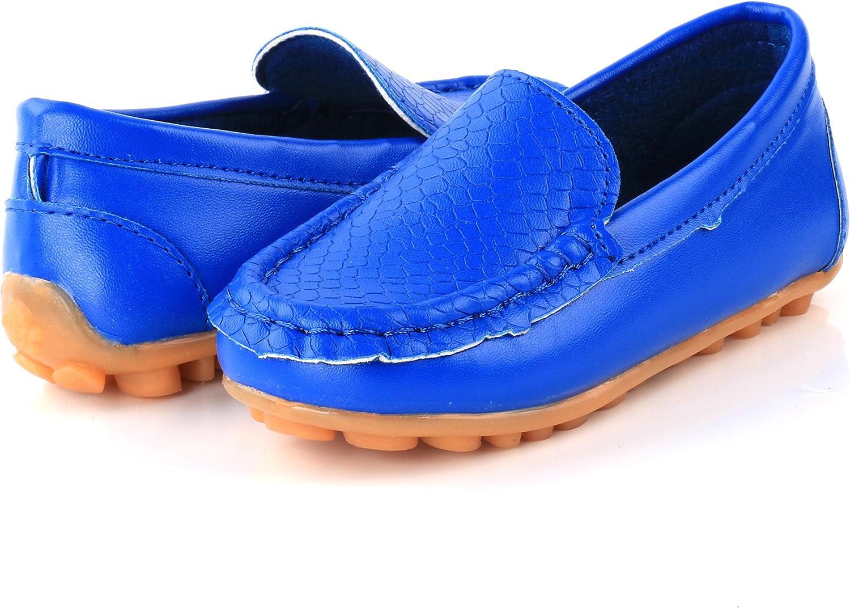 LONSOEN Toddler Little Kid Boys Girls Soft Slip On Loafers Dress Flat Shoes