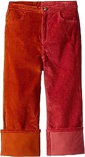OSCAR DE LA RENTA Childrenswear Girl's Cotton Corduroy Pants (Toddler/Little Kids/Big Kids) Amber/Coral 8 Big Kids