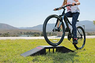 Scooter BMX Bike RC Car Ramp - Kids Starter Launch Mini Ramps for Skateboards, Longboards, Bikes, Rollerblades, Inline Skate Riders - Durable Toys for Backyard Play - 6 configurations in one Box