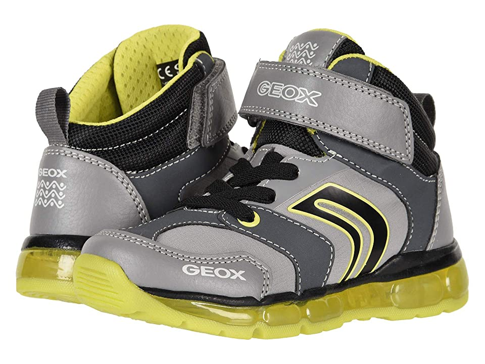 Geox Kids Android Boy 18 (Toddler/Little Kid) (Grey/Lime) Boy