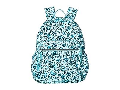 Vera Bradley Iconic Campus Backpack (Cloud Vine) Backpack Bags