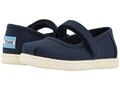 TOMS Kids Mary Jane (Infant/Toddler/Little Kid) (Navy Canvas) Girls Shoes