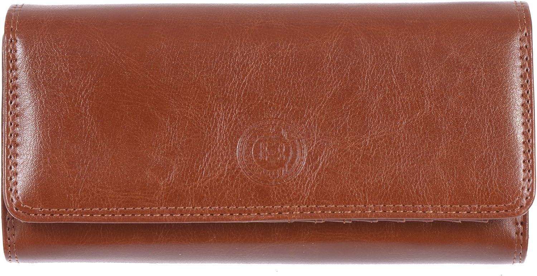 Club Rochelier Women's Checkbook Clutch ID Wallet (Cognac)