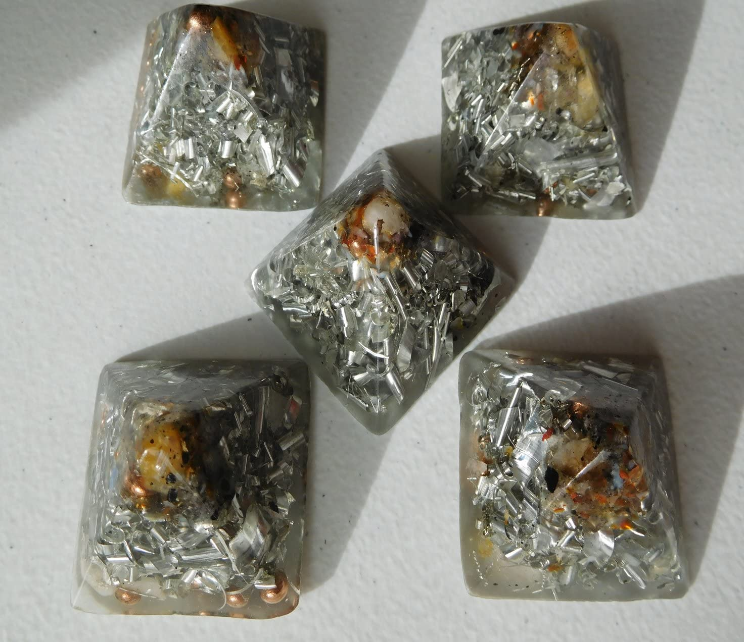 5 Crystal Clear Sale special price Small Pyramids Orgone A Energy Generator Louisville-Jefferson County Mall