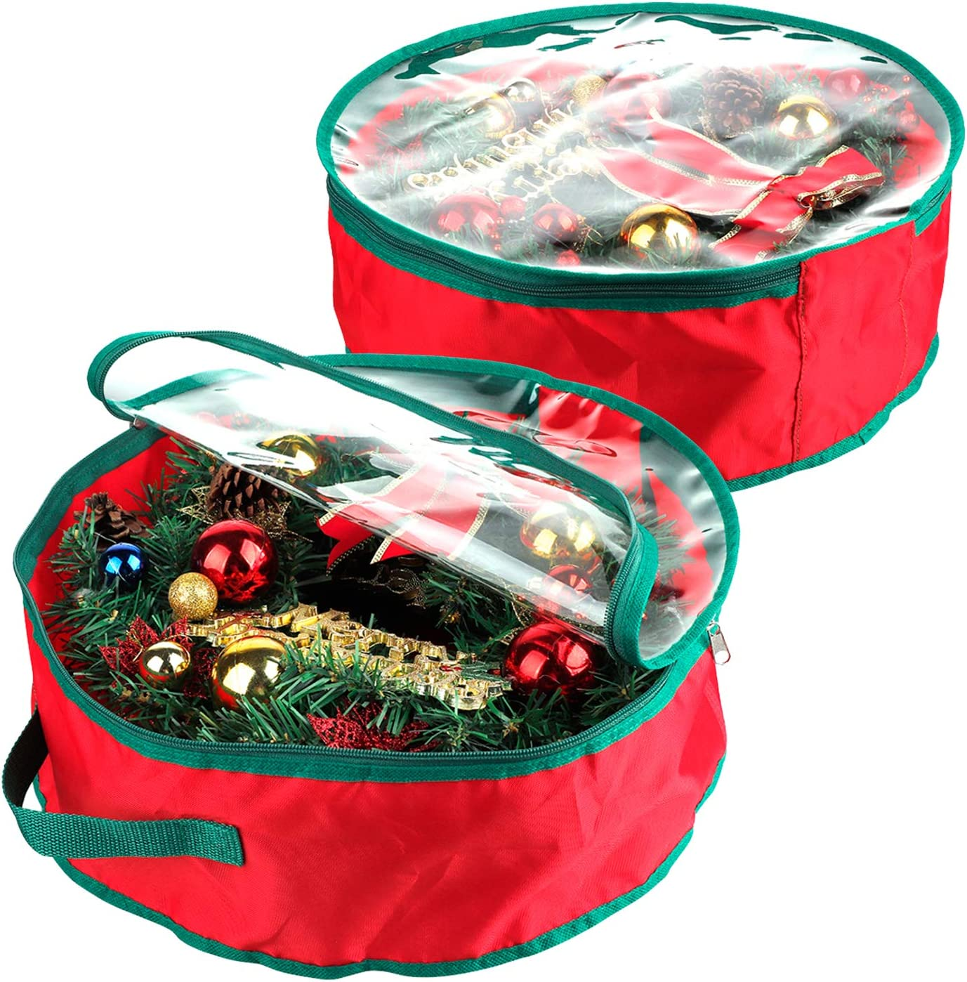 2Krmstr 20 Inch Christmas Wreath Storage Bag 2 Portable Pack of Large special price Free shipping anywhere in the nation
