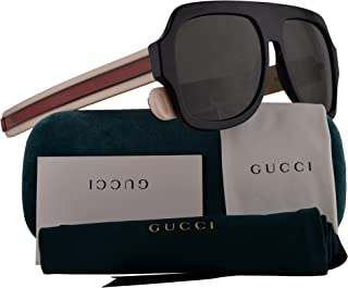 6480bd0cf15 Gucci GG0255S Sunglasses Black Ivory w Grey Lens 59mm 001 GG0255 S GG 0255