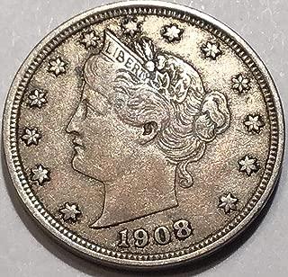 1908 Liberty V Nickel Very Fine