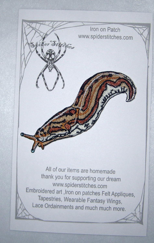 Magical Spotted Leopard Slug Limax Maximus Iron on Patch Applique