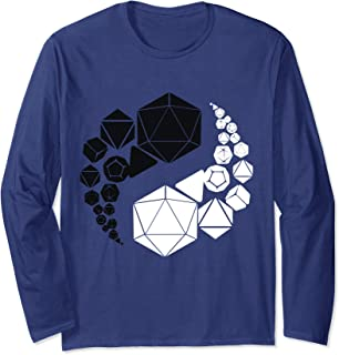 Yin Yang Dice Role Playing Funny Tabletop Giveth And Taketh Long Sleeve T-Shirt