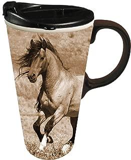 Wild Chestnut 17 OZ Ceramic Coffee Cup - 4 x 5 x 6 Inches