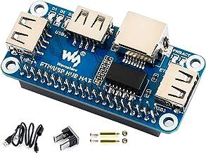 Ethernet/USB HUB HAT Expansion Board for Raspberry Pi 4B/3B+/3B/2B/Zero/Zero W/Zero WH,with RJ45 10/100M Ethernet Port (Ba...