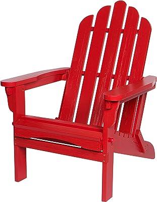 Shine Company 4659CR Marina II Folding Hydro-TEX Finish, Chili Red Adirondack Chair