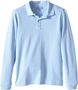 Long Sleeve Pique Polo (Big Kids)
