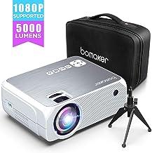 kemanner 1080P HD Play Projector Mini proiettore per apparecchiature Audio domestiche Proiettori