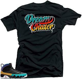 SNELOS Shirt Matching Jordan (Jordan 9 Dream it Do it- Dream Chaser Shirt Black)