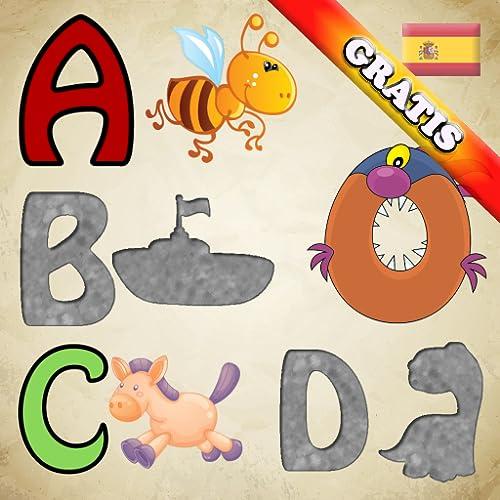 Puzzle des spanischen Alphabet für Kleinkinder und Kinder: lernen Zahlen und Buchstaben des Alphabets in Spanisch! KOSTENLOS