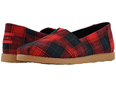 TOMS Alpargata (Red Tartin (Vegan)) Women
