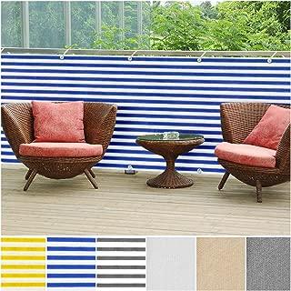 casa pura Balcony Privacy Screening Cover | Screen Cover for UV Protection - 3' x 16'4