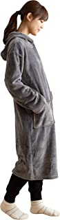 ナイスデイ 着る毛布 グレー Mサイズ mofua ヒートウォーム 発熱 +2℃ 60156613
