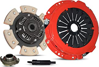 Clutch Kit Works With Kia Spectra Spectra5 Base Ex Lx Sx Sedan Hatchback 2004-2007 2.0L 1975CC l4 GAS DOHC Naturally Aspirated (6-Puck Disc Stage 3)