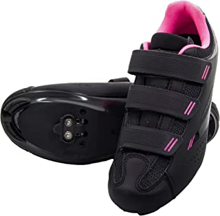 Pista - Holiday Special Pricing - Women's Spin Class Ready Cycling Shoe Bundle with Compatible Cleat, Look Delta, SPD - Black, Blue, Pink, White